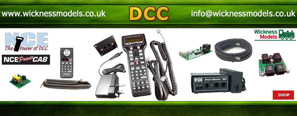 NCE Power Cab Controllers and Accessories - click above for more -